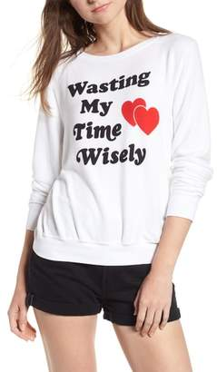 Wildfox Couture Wasting My Time Wisely Baggy Beach Sweatshirt