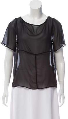 Kain Label Short Sleeve Silk Top