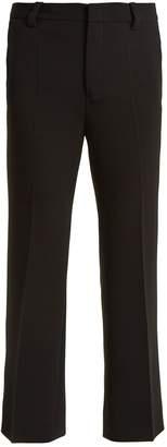 Miu Miu High-rise cropped flared-leg cady trousers