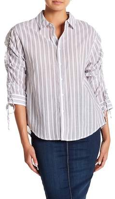 Always & Forever Shirred Sleeve Striped Blouse