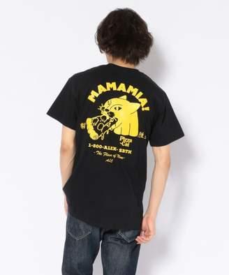 AlexanderLeeChang (アレキサンダーリーチャン) - BEAVER AlexanderLeeChang/アレキサンダーリーチャン 別注 PIZZA CAT TEE ピザキャットTシャツ