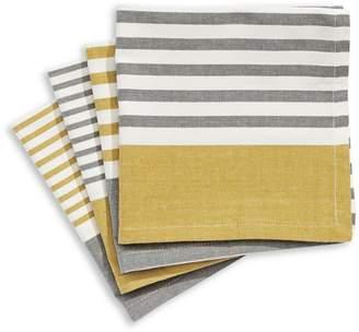 Jamie Oliver Set of 4 Striped Cotton Napkins