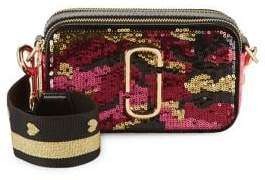 Marc Jacobs Snapshot Camouflage Sequined Crossbody