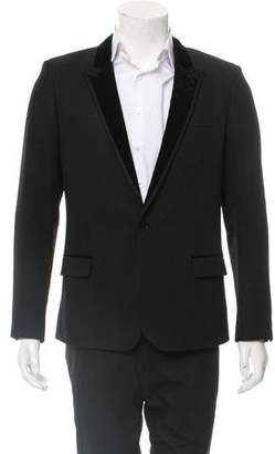 Saint Laurent Virgin Wool One-Button Tuxedo Jacket
