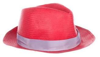 Borsalino Grosgrain-Trimmed Fedora Hat