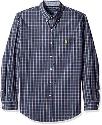 U.S. Polo Assn. Men's Classic Fit Long Sleeve Plaid Woven Shirt