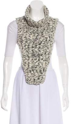 Chanel Strass-Embellished Knit Dickie
