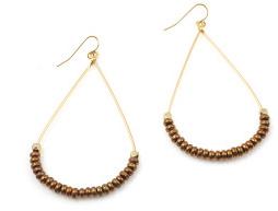 Vanessa Mooney Teardrop Earrings Brass