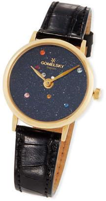 Gomelsky 32mm Agnes Solar System Watch w/ Alligator Strap