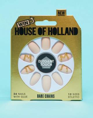Elegant Touch House of Holland Luxe x Bare Chaines False Nails