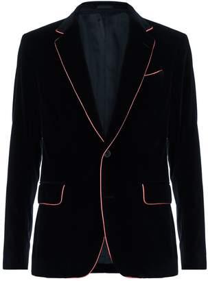 Alexander McQueen Velvet Contrast Trim Blazer