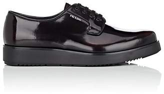 Prada Men's Spazzolato Leather Platform Bluchers