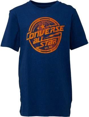 Converse Boys Lock Up T-Shirt Blue Static Heather