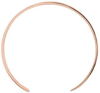 Ekria - Single Extra Large Curve Earrings Shiny Rose Gold