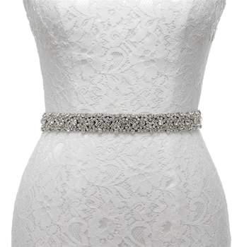 AW Rhinestone Wedding Dress Belt Bridal Bridesmaid Sash Belt