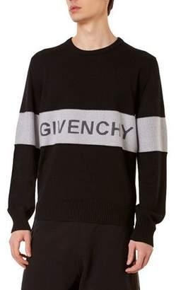 Givenchy Men's Tricolor Logo Sweater