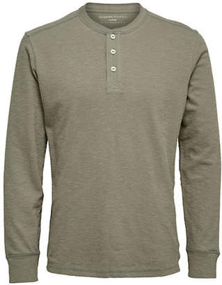 Selected Long-Sleeve Cotton Henley