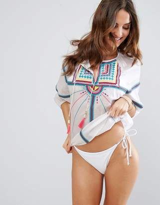 Seafolly Geo Tribal Embroidered Top $143 thestylecure.com