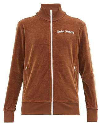 Palm Angels Woodland Print Zip Through Track Jacket - Mens - Brown