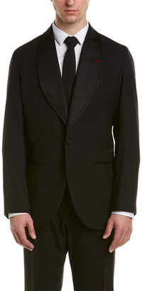 Isaia Vincent Wool Suit With Pleated Pant