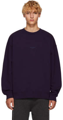 Acne Studios Purple Distressed Logo Sweatshirt