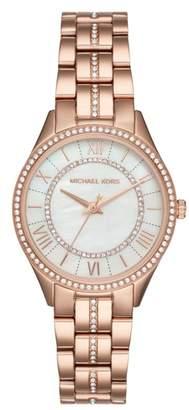 Michael Kors Lauryn Crystal Bracelet Watch, 33mm