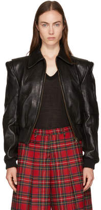 R 13 Black Leather Americana Jacket