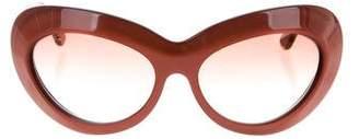Alexander McQueen Gradient Round Sunglasses