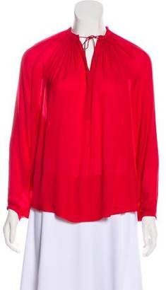 Isabel Marant Satin Long Sleeve Top