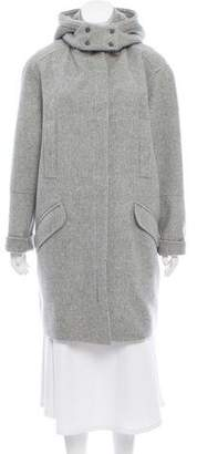 Vince Fur Accented Wool Coat w/ Tags
