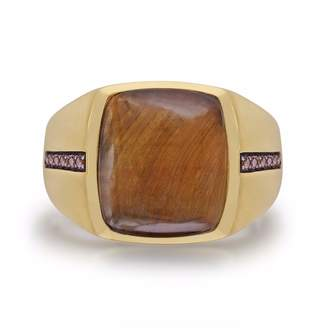 LMJ - Chatoyant Yellow Tiger Eye Stone Ring
