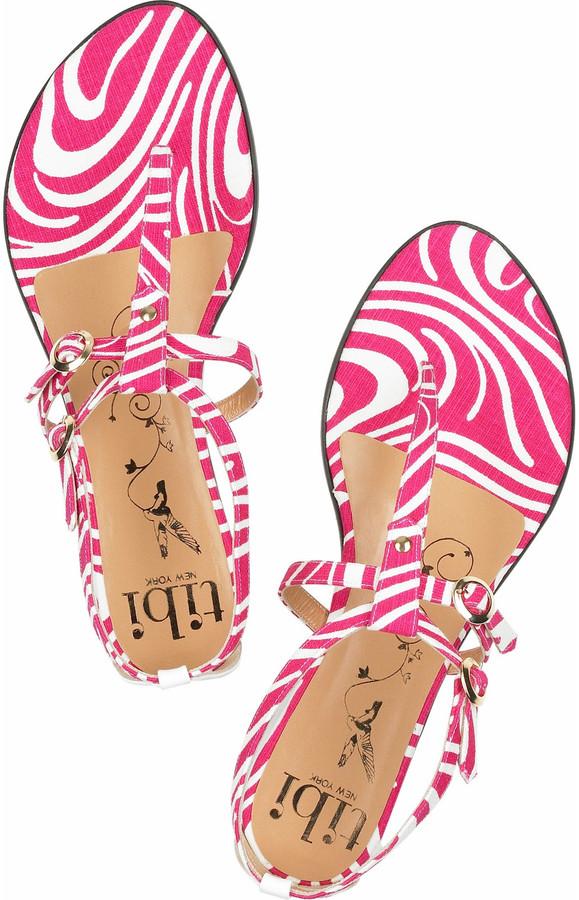 Tibi Twiggy T-bar sandals