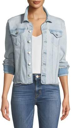 NYDJ Frayed Denim Jacket, Palm Desert