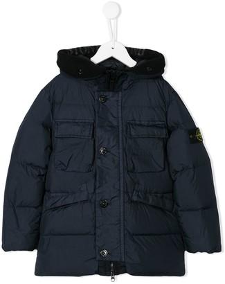 Stone Island Junior oversized padded coat