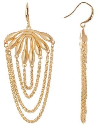 Trina Turk Botanicals Flower Burst Chain Dangle Earrings
