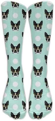 Best & Women's Boston Terrier Dog Cute Casual Socks Shoe Size 6-10 50cm