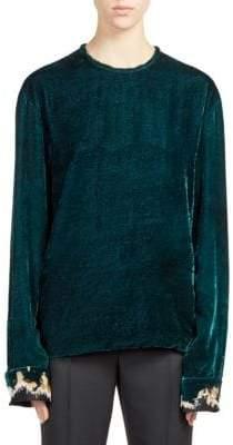 Haider Ackermann Embroidered Velvet Top