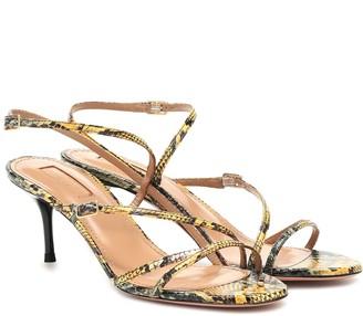 Aquazzura Carolyne 60 snakeskin sandals
