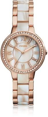 Fossil Virginia Rose Tone Horn Acetate Women's Watch