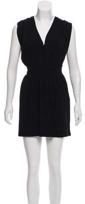 Halston Short Sleeve Mini Dress