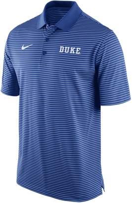 Nike Men's Duke Blue Devils Striped Stadium Dri-FIT Performance Polo