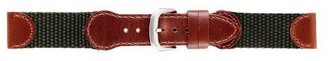 Swiss Army-Style Nylon w/Leather Accent Replacement Watch Ban