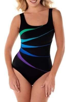b0090fe5830 Longitude One-Piece Scoopneck Fan Tank Swimsuit