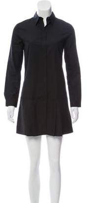 Prada Point-Collar Pleated Dress w/ Tags Black Point-Collar Pleated Dress w/ Tags