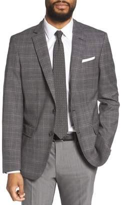 BOSS Hutsons Trim Fit Plaid Wool Sport Coat