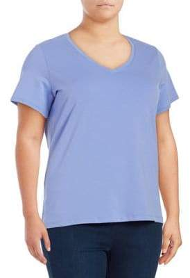 Lord & Taylor Plus V-Neck Tee