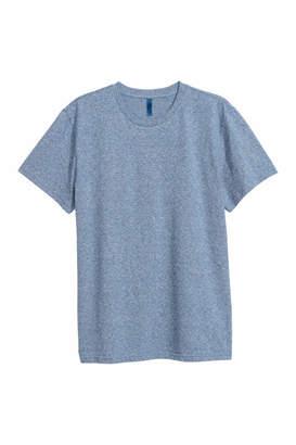 H&M Round-necked T-shirt - Blue melange - Men