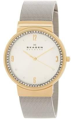 Skagen Women's Ancher Two-Tone Watch $155 thestylecure.com
