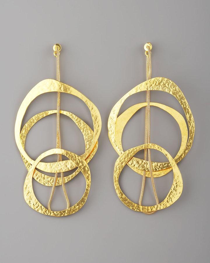 Herve Van Der Straeten Multi-Circle Earrings