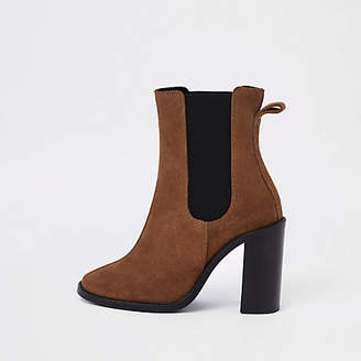 River Island Brown suede ankle boots